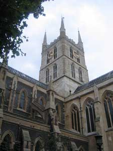 St. Saviour Church in London--it is now known as Southwark Cathedral