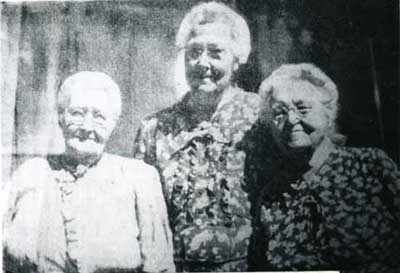 Three Jarvis sisters:Emmaline Cottam, Josephine Miles, and Ann Milne.