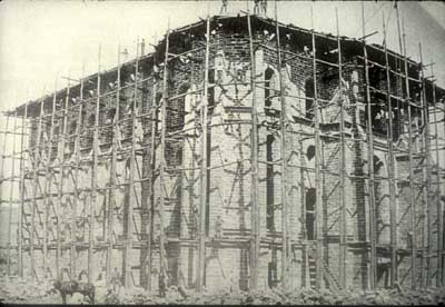 St. George Temple under construction