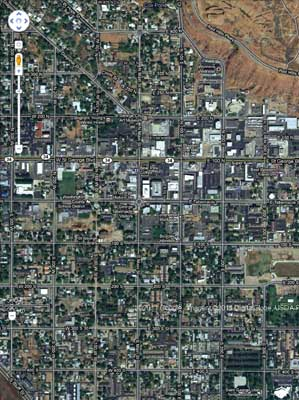 Approximately the same area of St. George today